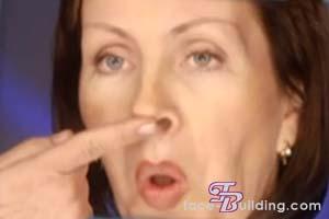 фейсбилдинг - упражнение для более острого и узкого носа