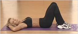 Упражнение для плоского живота и талии - Скручивание