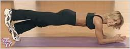 Упражнение для плоского живота и талии - Подъем ног