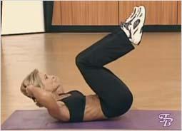 Упражнение для плоского живота и талии - Скручивание и Подъем ног
