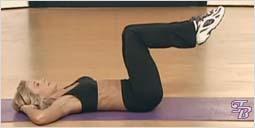Упражнение для плоского живота и талии - Покачивание носками